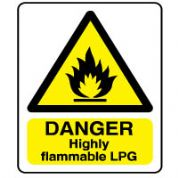 Warn151 - Danger Flammable